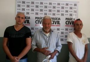 Da esquerda para direita: André Marques dos Santos, •João Alves e • Elvis Presley da Silva Caetano.