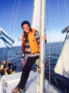 Carona em veleiro entre Uruguai e Argentina!