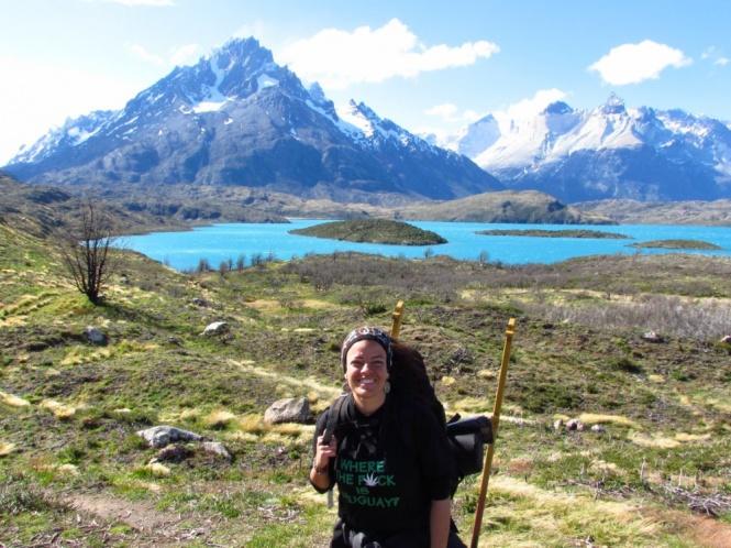 Terminando o trekking de cinco dias no Parque Torres del Paine - Chile