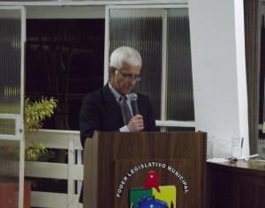 Abel Pires Filho, em discurso de agradecimento pela homenagem.