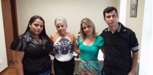 Da esquerda pra direita: Leyde Gomes, Idelci Cabral, Sandra Donário e Robson Lacerda.